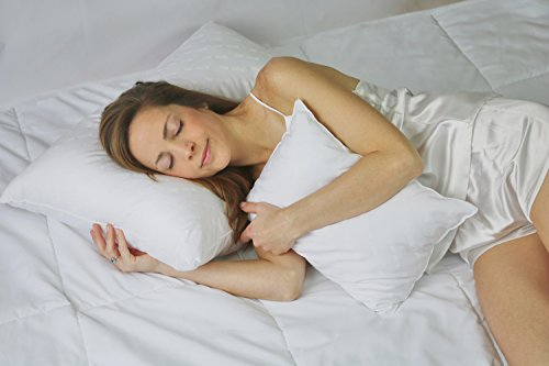 Fine Pillow, Best for Stomach Sleepers | Down Alternative Sleeping Pillow for Neck & Back Pain Relief Comfortable & Supportive | Hypoallergenic Standard Soft, Encased in 100% Cotton