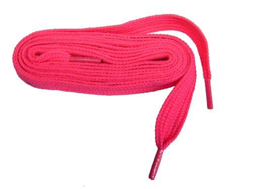 Proathletic (tm) Vet 3/4 Inch Brede Sneaker Schoenveters Shoestrings - 2 Paar Pack Neon Roze