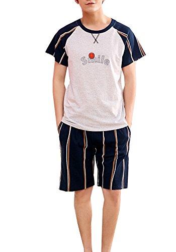 Big Boy Summer Knit Sleepwear Lounge Set Short Sleeve Pajama T-Shirt and -
