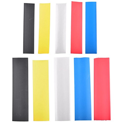Heat Shrink Tubing Kit, Conwork Assorted 2:1 Heat Shrinking Tube Wire Wrap Cable Sleeve Set (120Pcs, 5 Colors) (100 Tubing Pvc Shrink Gauge)
