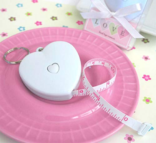 - Love Heart Shaped Keychain Measuring Tape Wedding Bridal Shower Favors Party Supplies tokolitearom