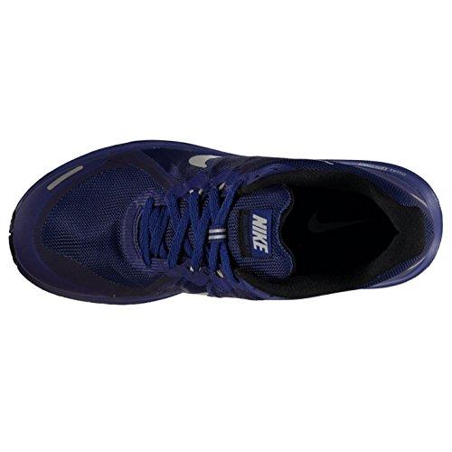 NIKE Dual Fusion x Chaussures de Course à Pied pour Homme Royal/Argent Fitness Formateurs Sneakers