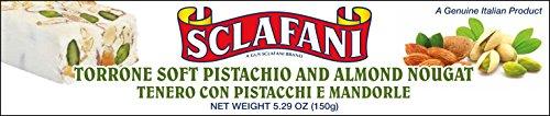 Sclafani Soft Pistachio and Almond Nougat Torrone Bar