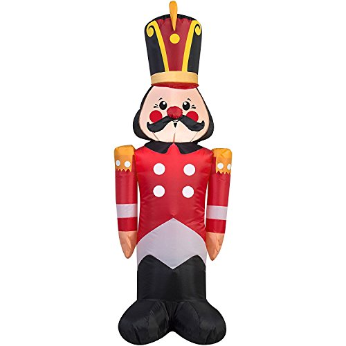 Gemmy Airblown Christmas Inflatables Snowflakes, 4' (Toy Soldier)