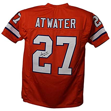 competitive price 9df98 6ab19 Steve Atwater Autographed/Signed Denver Broncos Orange XL ...