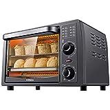 クッキング電気オーブン多機能ベーキング電気オーブンフードドライヤー 家庭用 食品乾燥機家庭用 温度86°F-446°F(30°C~230°C)と60分のタイミング独立した温度制御ホームベーキングケーキパンタルト1050W