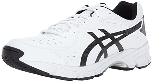 ASICS Men's GEL-195TR Wide Cross Training White/Black/Silver 13 2E US