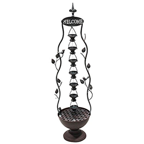 (Alpine MAZ256 Metal Hanging 7-Cup Tier Layered Fountain, 41 Inch Tall)
