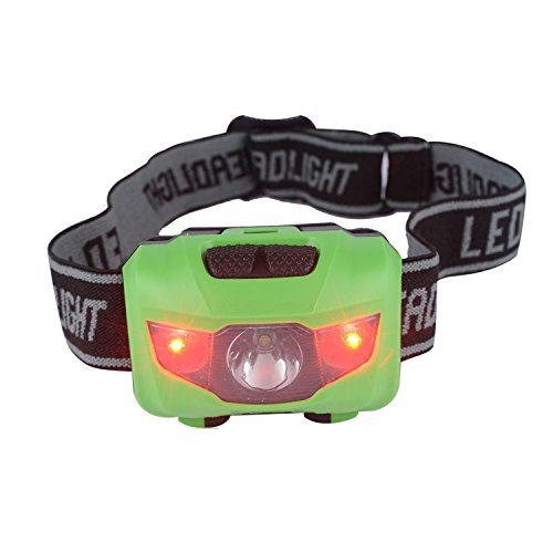 Infityle LED Headlamp - Waterproof IPX6 200 Lumens LED Head Lamp Flash Working Lights(Green, Dual Buttons (Wii Sonic Transformers)