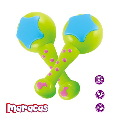 Baby Maracas Musical Toys for babies to Take Along Tunes Rattle and Rock the beat with the first instruments.