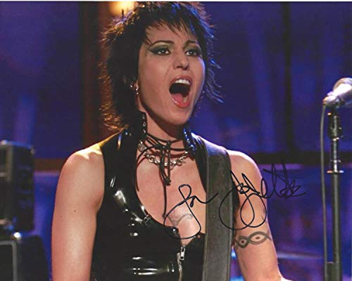 Joan Jett 2 Photo with Reproduction Signature archival Quality