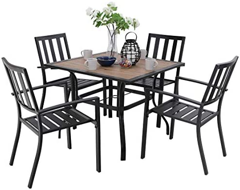 PHI VILLA 5 Piece Outdoor Dining Table Set