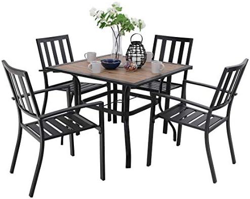PHI VILLA 5 Piece Outdoor Dining Table Set