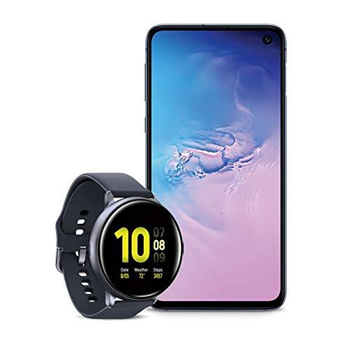 Samsung Galaxy S10e Factory Unlocked Phone with 256GB (U.S. Warranty), Prism Blue w/Samsung Galaxy Watch Active2 (44mm), Aqua Black - US Version with Warranty