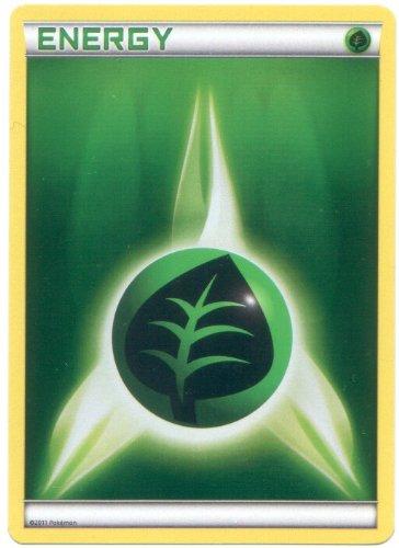 Holo-Foil Grass Energy Pokemon Card (Black & White Series, Green/Leaf Type)
