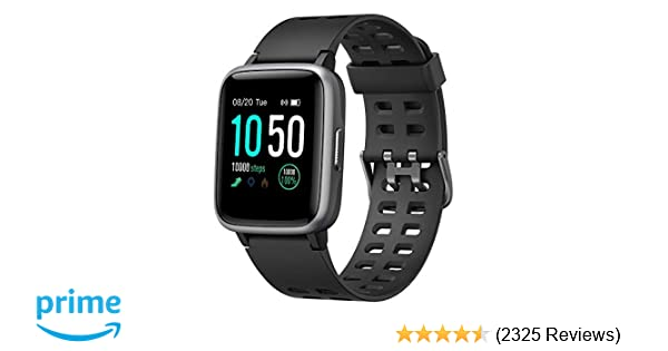 YAMAY Smart Watch for Android and iOS Phone IP68 Waterproof, Fitness Tracker Watch with Heart Rate Monitor Step Sleep Tracker, Smartwatch Compatible ...