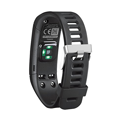 Band For Garmin Vivosmart HR, Soft Adjustable Silicone Replacement Wrist Watch Band Accessory For Garmin Vivosmart HR (No Tracker, Replacement Bands Only) (Black)