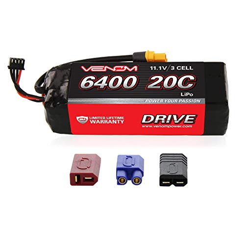 - Venom 20C 3S 6400mAh 11.1 LiPO Battery with Universal Plug System