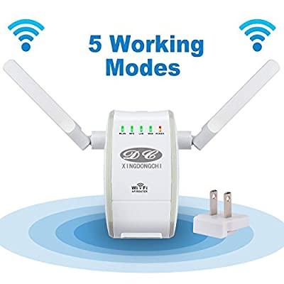 XINGDONGCHI 300Mbps Multi-function Mini Wireless-N WiFi Range Extender Signal Booster 802.11n/b/g Network Repeater/Router/AP with WPS