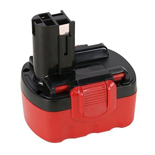 POWERAXIS 14.4v 3000mAh Ni-MH High Capacity Battery Replacement for Bosch BAT038 BAT040 BAT041 BAT140 BAT159 2607335685 Cordless Tools(Red&Black)