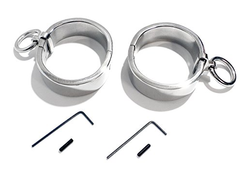 7.5'' Adult Bondage Handcuffs High Quality Stainless Steel with Single Rings by KUB