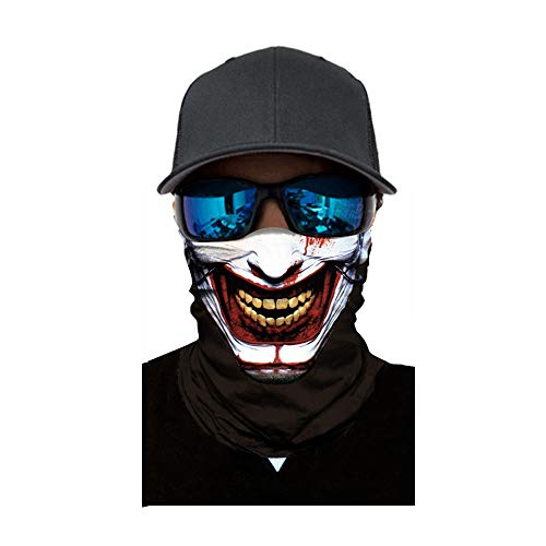 Sunshinehomely Halloween Zombie Skull Print Headkerchief, Cycling Motorcycle Neck Tube Ski Scarf Face Mask Balaclava Halloween Party (D) ()