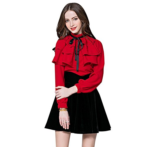 Dezzal Womens Vintage Bowknot Topstitching product image