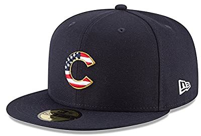 New Era Chicago Cubs 2018 July 4th Stars and Stripes 59FIFTY On Field Fitted Hat