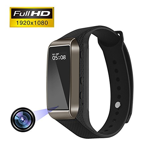 Aipinvip Smart Bracelet Hidden Camera, Surveillance Recording Camera 1080P HD, Wristband With Steps Calorie Counter, Smart Time Display For iOS&Android (Not included TF card) by Aipinvip