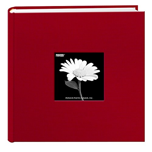 Fabric Frame Cover Photo Album 200 Pockets Hold 4x6 Photos, Apple Red by Pioneer Photo Albums