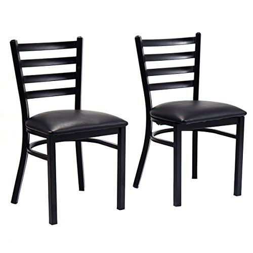 Set of 2 Metal Dining Chairs Upholstered Home Kitchen Side Chair Furniture New - Dream Quest Twin Sleeper