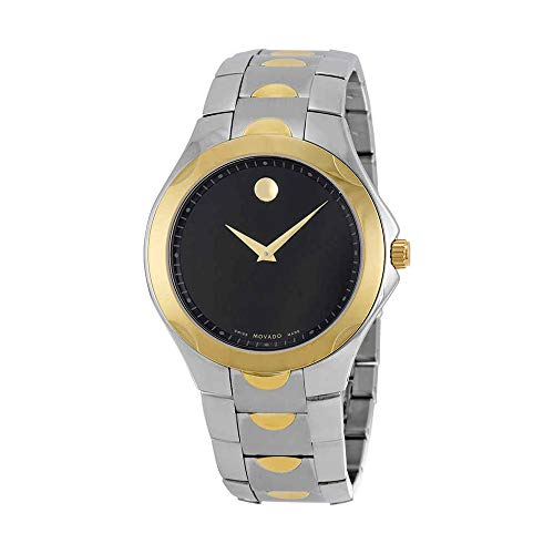 Movado Luno Sport Black Dial Two-Tone Mens Watch 0606906