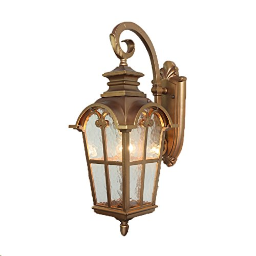 Antique Silver Outdoor Wall Mount - KMYX American Metal Wall Light Outdoor Wall Mount Lantern Vintage Classical Waterproof Aluminum Garden Decoration Security Lamp Antique Balcony Door Wall Mounted Security Wall Light Sconces