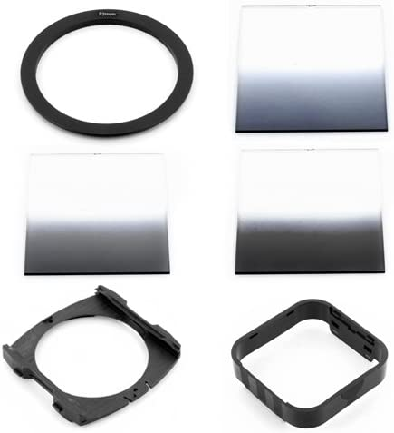 P-Holder Gradual ND2 ND4 ND8 Filters Wide Hood for Cokin P Series 72mm Adapter Ring