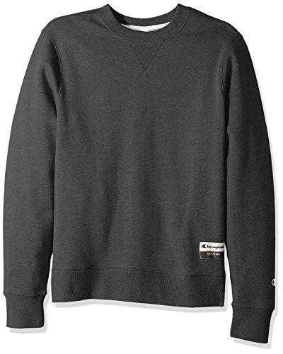 Champion Men's Authentic Originals Sueded Fleece Sweatshirt, Charcoal Heather, X-Large