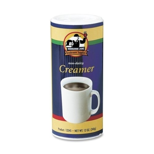 Genuine Joe Creamer, Non-Dairy, Reclosable Lid, 12 oz, 3/PK (Units per case: 4)