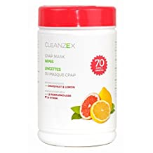 CLEANZEX™ CPAP Mask Wet Wipes with Grapefruit Lemon Scent (Canister of 70 wet wipes)