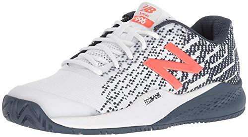 New Balance Men's 996v3 Hard Court Tennis Shoe, White/Navy, 11 D US