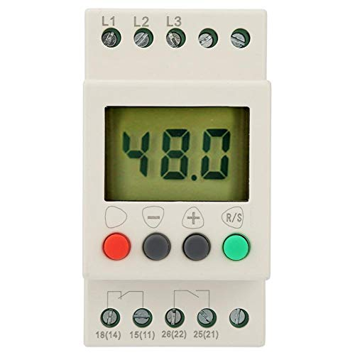 Phase Sequence Protector, 380V AC 50Hz 3 Phase Sequence Relay Protector Voltage Protective Relay with Digital Display (Gps And L2 L1)