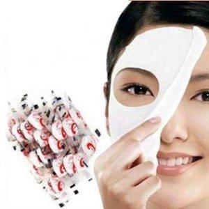 100 pcs Skin Face Care DIY Facial Paper Compress Masque Mask