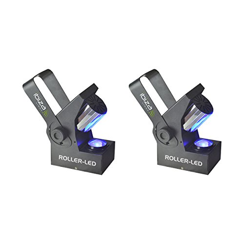 2x Ibiza Light Roller LED 10W RGBW DMX Barrel Scanner Effect Disco Lighting