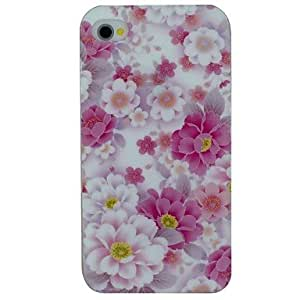 LIMME The Blooming Flowers Pattern TPU Material Soft Back Cover Case for iPhone 4/4S