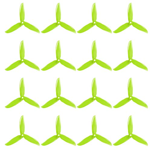 Cyclone Racing - DALPROP Cyclone Pro T5046C 5 Inch 3-Blade Propeller 5046 CW/CCW Props for FPV Racing Quadcopter Drone Crystal Fluo Green (16pcs)