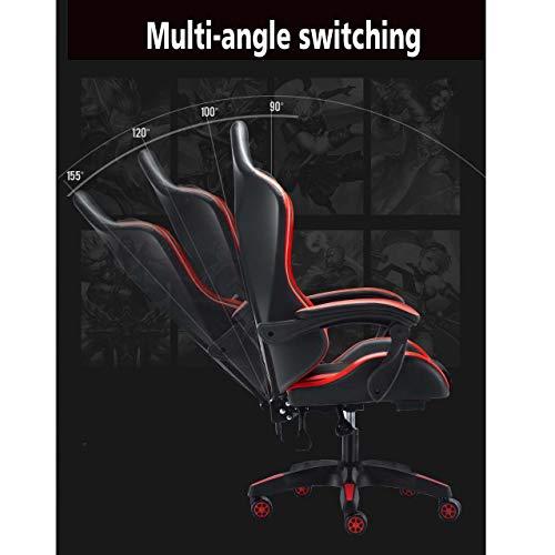 MISS&YG Ergonomisk kontorsstol, spelstolar, verkställande svängbar stol höjd justerbar, bekväm och hållbar för familj, kontor