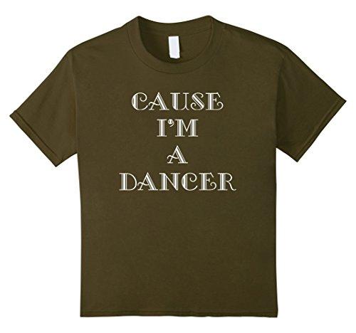 [Kids Dance Tee Shirt - Dancer 8 Olive] (Cabaret Costumes For Men)