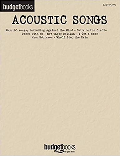 Download Acoustic Songs: Budget Books (Easy Piano) PDF, azw (Kindle)