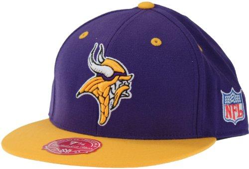 Minnesota Vikings NFL Mitchell & Ness, 2 Tone Fitted Hat, TT24, Purple