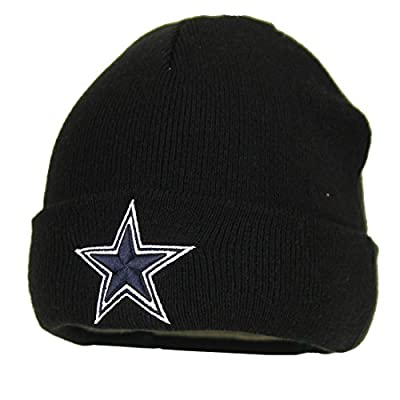 Dallas Cowboys NFL Cuffed Winter Knit Hat / Stocking Cap (Black)