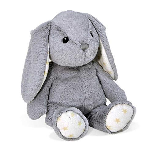 Cloud b Hugginz Plush Bunny, Grey, 15