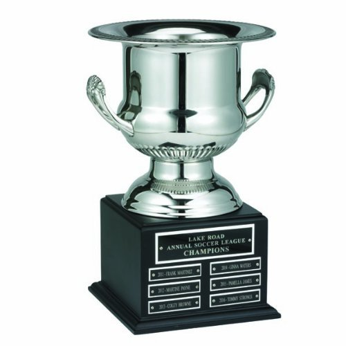 Perpetual Silver Wine Cooler Trophy on Black Base with 30 name Plates